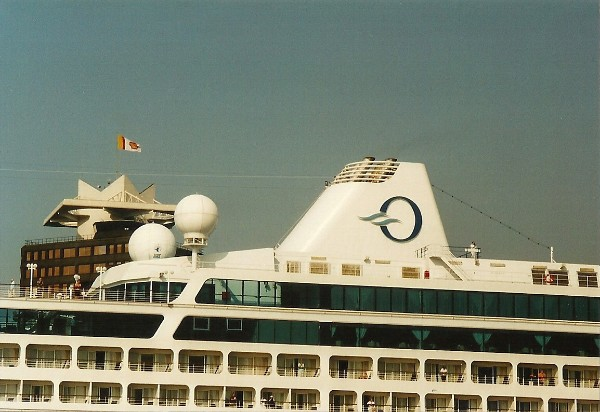 ... Amsterdam in june 2004. The funnel shows the logo of Oceania, the 'O